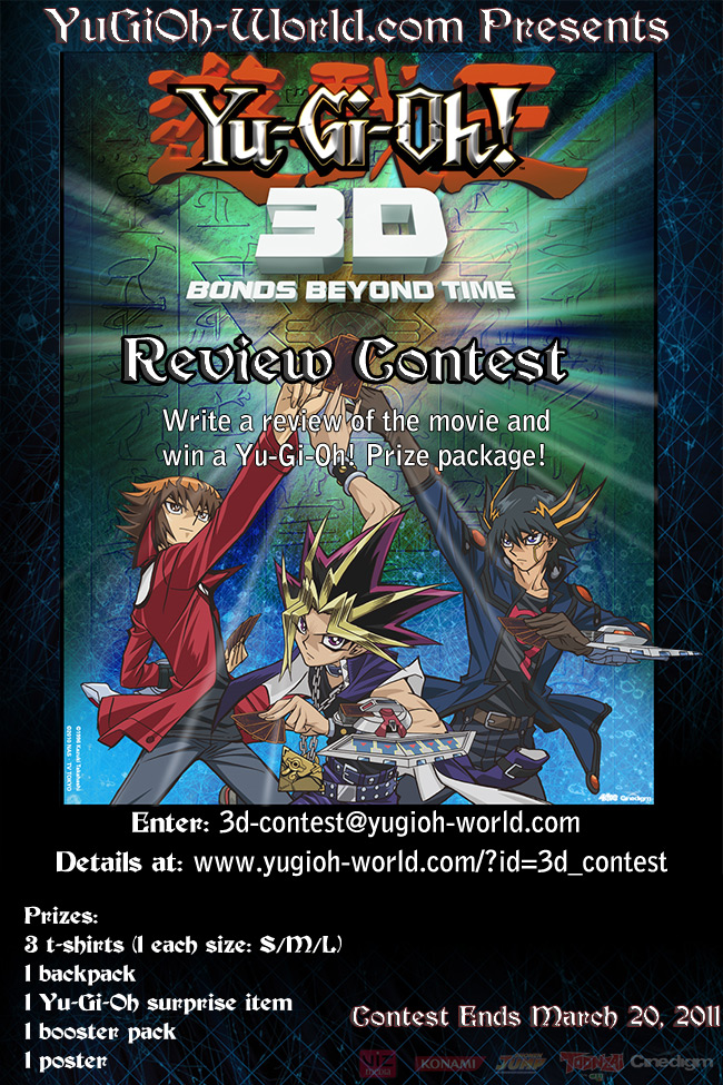 Yu-Gi-Oh! World Presents Yu-Gi-Oh! 3D Bonds Beyond Time Review Contest
