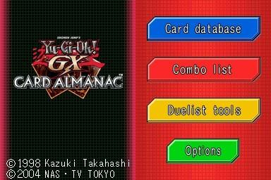 ScreenShot: Yu-Gi-Oh! GX Card Almanac DS
