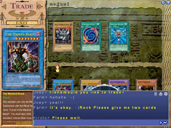 ScreenShot: YuGiOH! Online PC