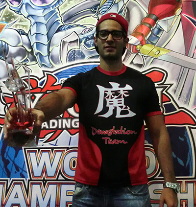 Yu-Gi-Oh! TCG Central American Champion Jose Lagunez, from Mexico D.F., Mexico