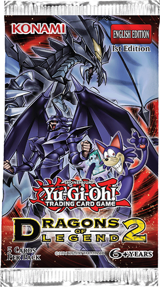 The Yu-Gi-Oh! TRADING CARD GAME (TCG) Dragons of Legend 2 booster pack