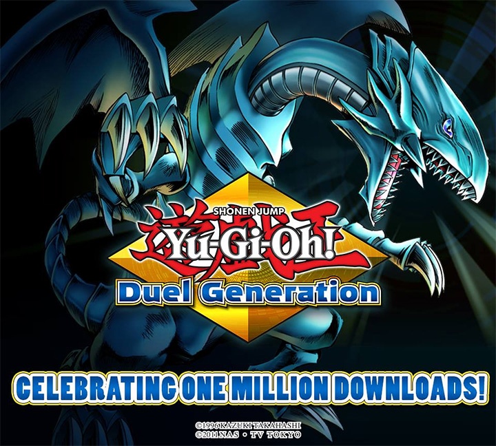 Yu-Gi-Oh! Duel Generation has reached (over) one million downloads