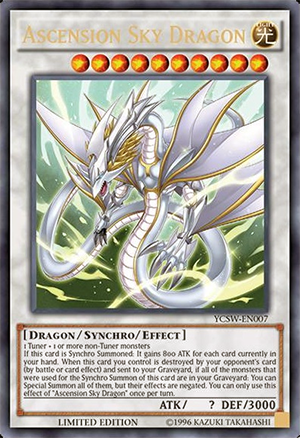 Ultra Rare version of the latest, most sought-after prize card Ascension Sky Dragon