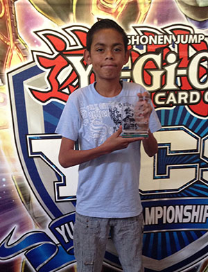 Barajas Maca, from Tecamac, Mexico, got the job done with his Battlin� Boxer Deck to earn the prestigious title of Dragon Duel Champion