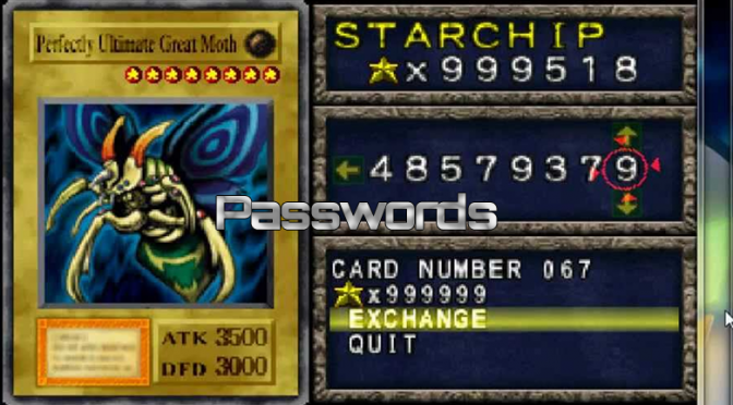 Forbidden Memories Passwords