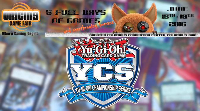Konami will be holding a YCS event at Origins Game Fair
