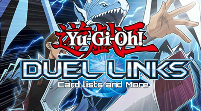 Yu-Gi-Oh! Duel Links card lists