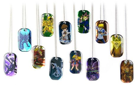 Dog tags featuring your favorite YuGiOh characters