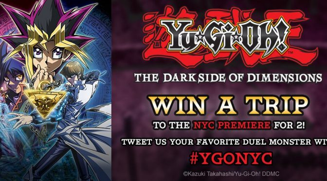 Win a Trip to New York City for 2 to See Premiere of  'Yu-gi-oh The Dark Side of Dimensions' Courtesy of Crunchyroll