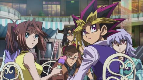 Yu-Gi-Oh! THE DARK SIDE OF DIMENSIONS food vendor scene screenshot