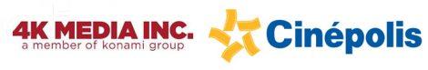 4k media and cinepolis logos
