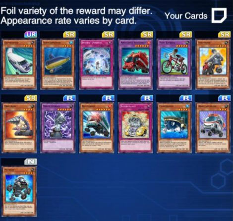 Duel Links Syrus Drop Rewards