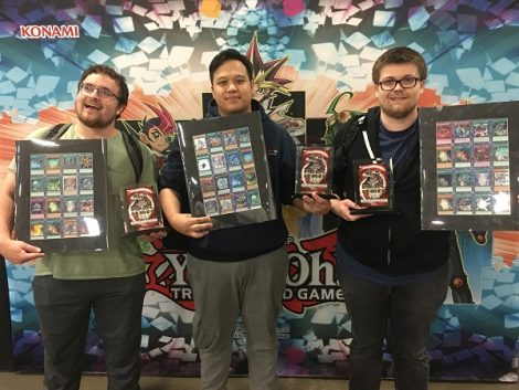 School Tournament Series at YCS Secaucus winners f  rom the University of Michigan: Michael Thomas, Evan Betzig, and Thanh Long