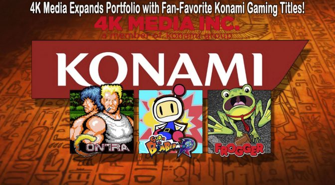 4K MEDIA EXPANDS PORTFOLIO WITH FAN-FAVORITE KONAMI GAMING TITLES