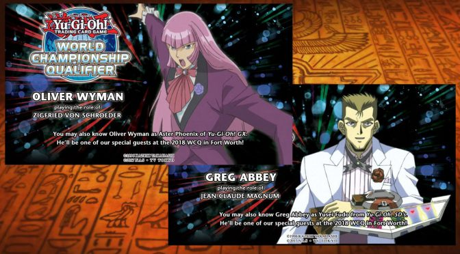 Yu-Gi-Oh! TCG announced 2 special guests at the North America TCG WCQ: Greg Abbey and Oliver Wyma