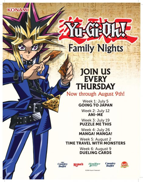 Ovation Brands® And Furr's Fresh Buffet® Celebrate An International Hit Anime Brand Yu-Gi-Oh! For Newest Family Night