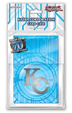 Yu-Gi-Oh! Kaiba Corporation Card Case featuring a holographic KC Logo and the Kaiba Corporation circuitry with a pearl white frame