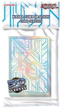 Yu-Gi-Oh! Kaiba Corporation Card Sleeves feature the KC Logo and the signature Kaiba Corporation circuitry design