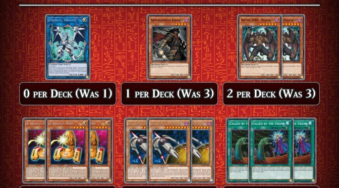The Forbidden and Limited Card List has been Updated