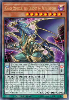 2018-2019 YCS Prize Card Chaos Emperor, the Dragon of Armageddon