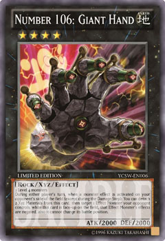 YCS Super Rare Prize Card – Number 106: Giant Hand