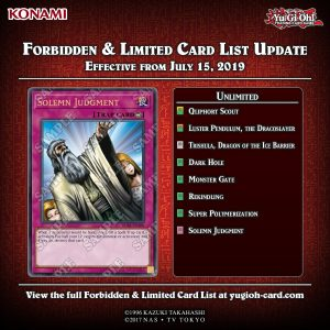 FORBIDDEN & LIMITED LISTS Effective from July 15, 2019