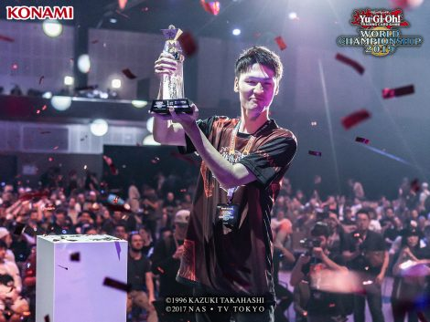 Kouki Kosaka, the winner of the Main TCG Event and Yu-Gi-Oh! World Champion.