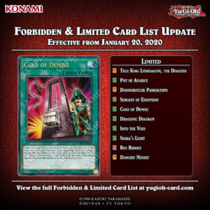 FORBIDDEN & LIMITED LISTS - Effective from January 20, 2020