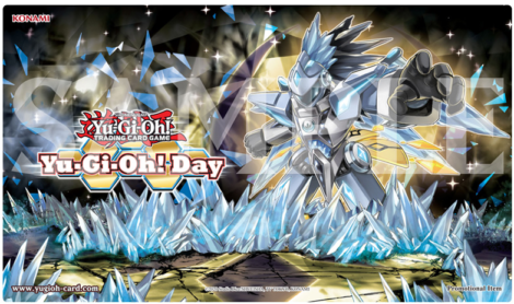 Exclusive Game Mat for this Yu-Gi-Oh! Day featuring Crystron Halqifibrax